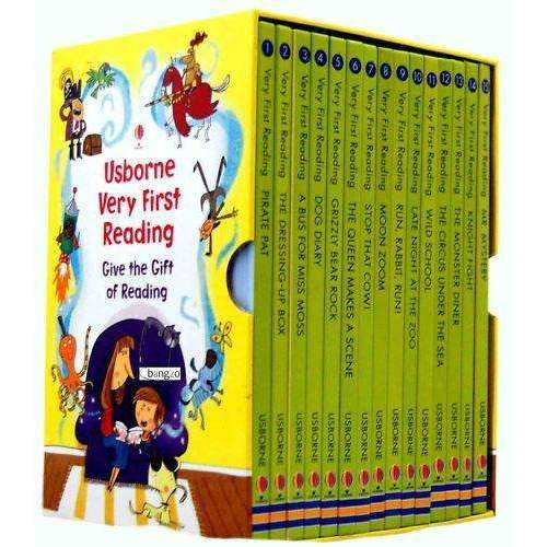 Usborne Very First Reading 16 Books Collection Set Gift Pack Read at home