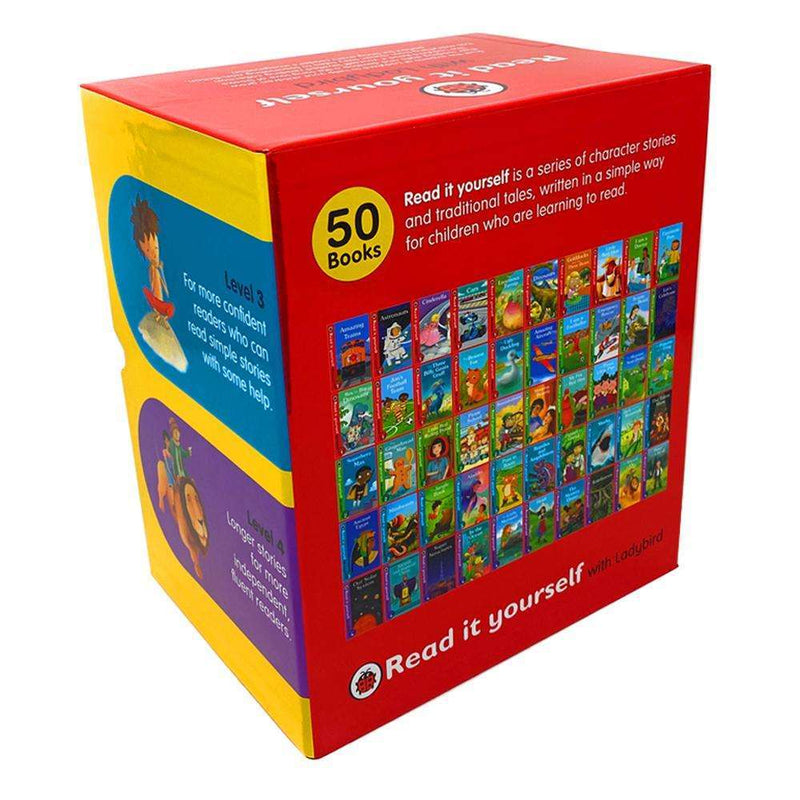 Read it Yourself with Ladybird Collection 50 Books Box Set Pack (Level 1, 2, 3, 4)