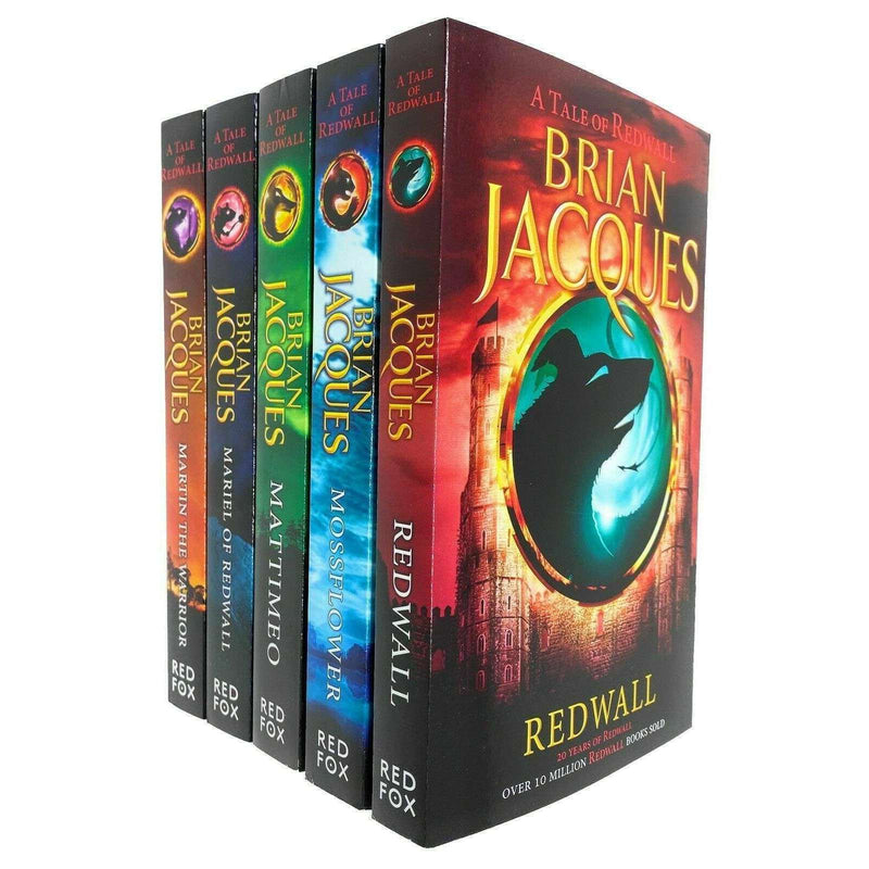 Redwall Series 5 Books Collection Set By Brian Jacques (Redwall, Mossflower..)