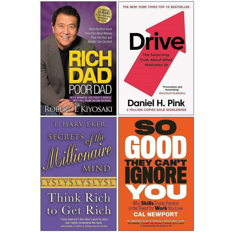 Rich Dad Poor Dad, So Good, Drive, Millionaire Mind 4 Books Collection Set