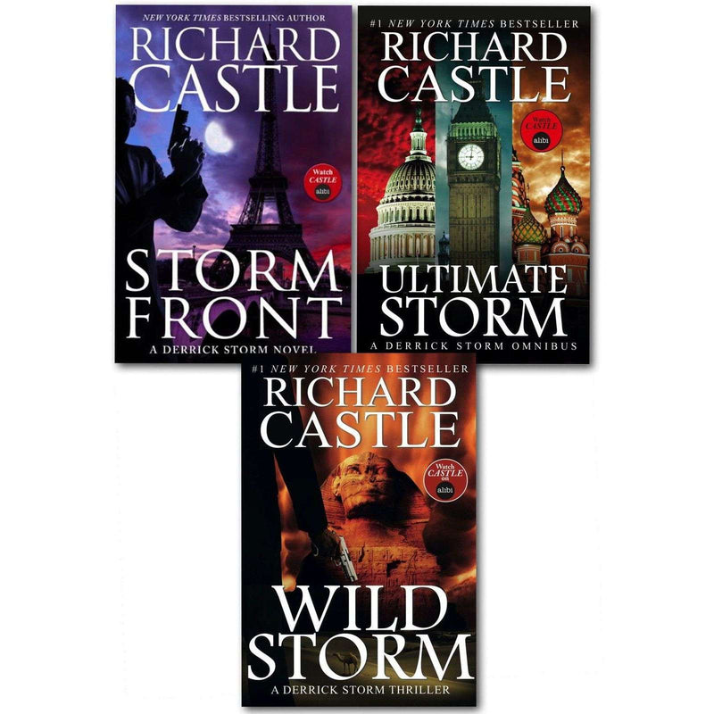 Richard Castle 3 Books Set Collection Bestseller Wild Storm,Storm Front