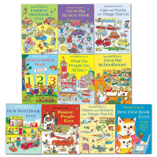 Richard Scarry Collection 10 Books set Best First Book Ever