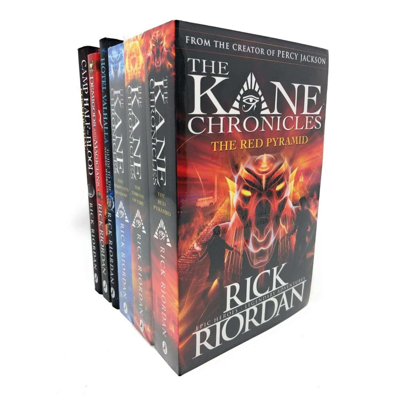 Rick Riordan 6 Books Set Collection Demigods And Magicians, Kane Chronicles