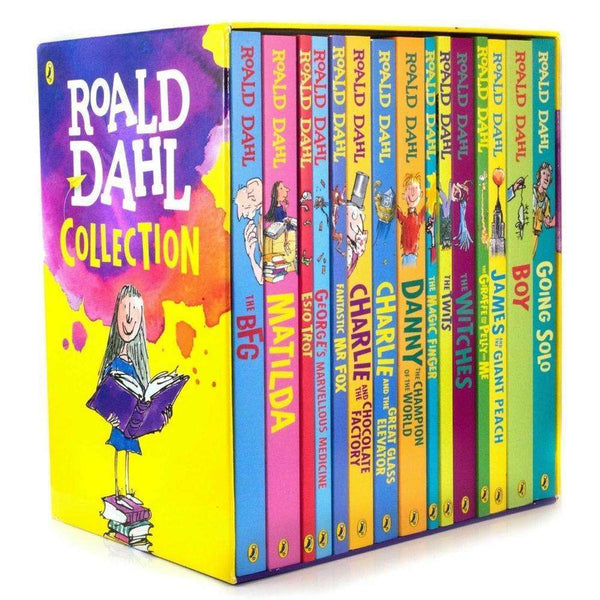 Roald Dahl 15 Books Box Set Collection Going Solo, Matilda