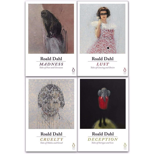 Roald Dahl 4 Books Collection Set Deception, Madness, Cruelty, Lust