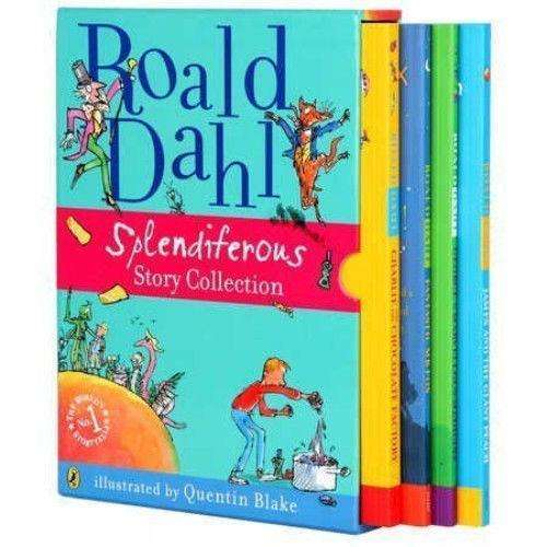 Roald Dahl Splendiferous story Collection illustrated Deluxe 4 Book Set Hardback