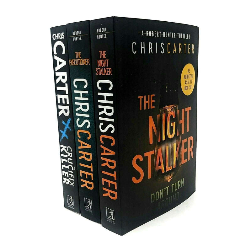 Robert Hunter Collection By Chris Carter 3 Books Set Night Stalker, Executioner