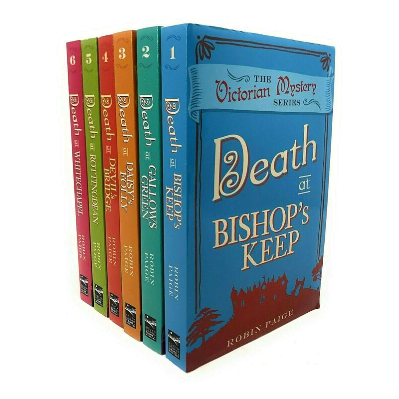 Robin Paige Victorian Mystery Series Collection 6 Books Set Death of Bishop Keep