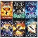 Trials of Apollo and Magnus Chase Series 6 Books Collection Set By Rick Riordan