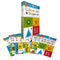 Ready Set Learn 10 Early Learning Wipe Clean Books Set Collection Colours Shapes Numbers Phonics Handwriting