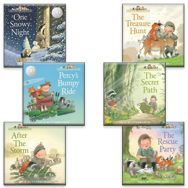 Percy the Park Keeper 6 Books Set Collection By Nick Butterworth