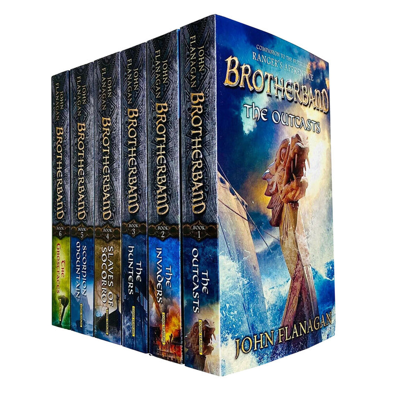 John Flanagan Brotherband Series 6 Books Collection Set Outcasts Invaders Hunter