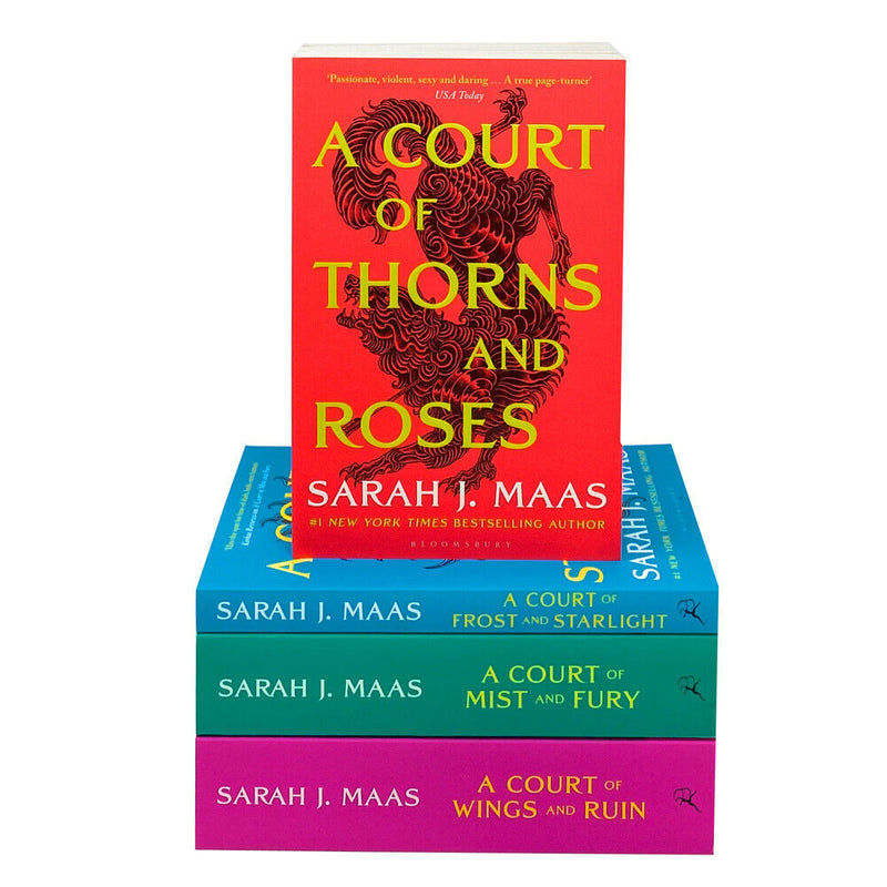 A Court of Thorns and Roses Box Set By Sarah J. Maas Collection 4 Books Set Pack