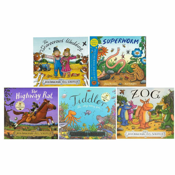 Julia Donaldson and axel scheffler 5 Books Collection Set Inc Superworm