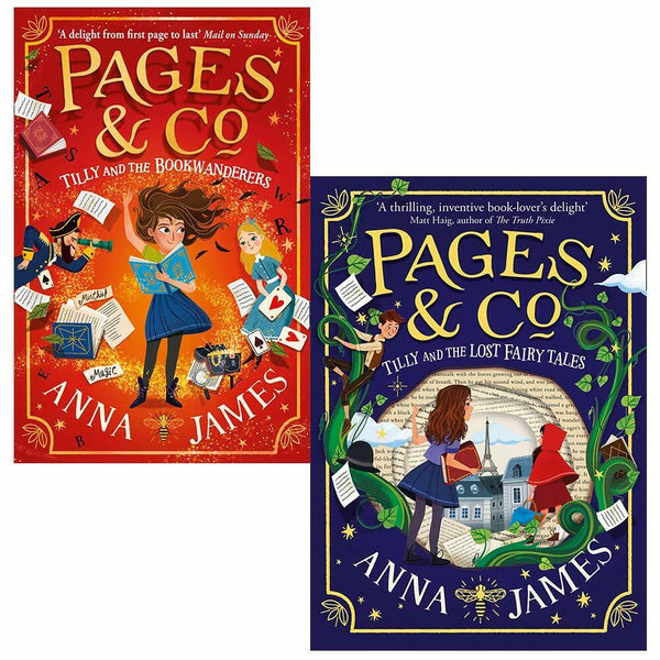 Anna James Pages & Co Collection 2 Books Set paperpack (Tilly and the Bookwanderers, Tilly and the Lost Fairy Tales )