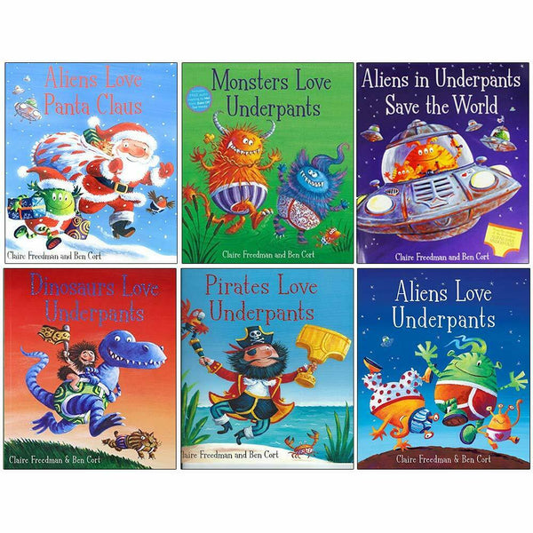 Aliens Love Underpants 6 Picture Books Children Set By Claire Freedman