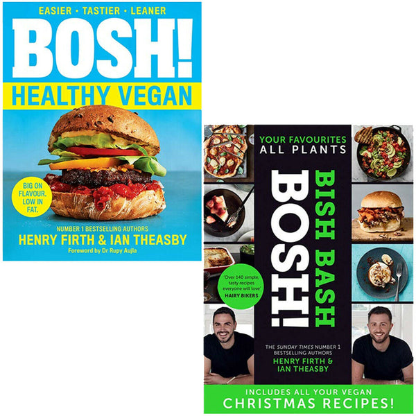 Bosh Healthy Vegan, BISH BASH BOSH 2 Books Collection Set By Henry Firth