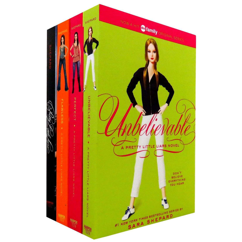Sara Shepard A Pretty Little Liars box Set 4 Books Collection Perfect, Flawless Series 1