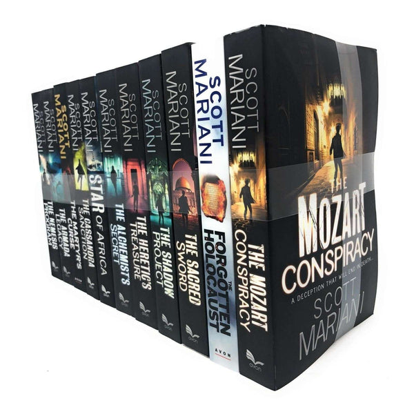 Scott Mariani 11 Books Set Collection, Mozart Conspiracy, Sacred Sword, Shadow