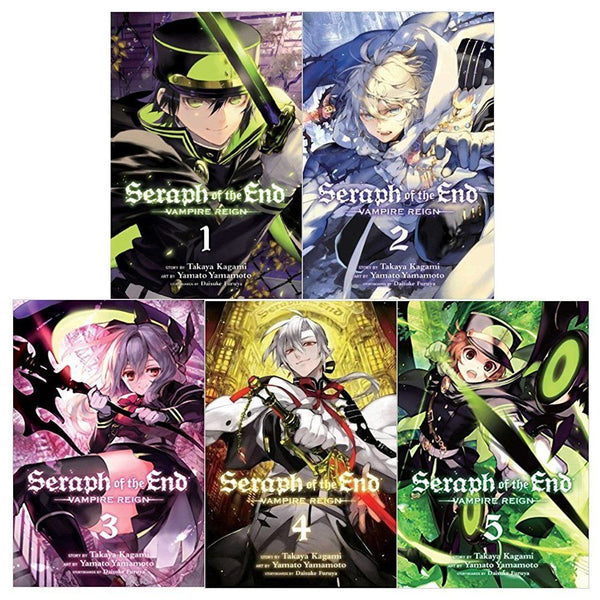 Seraph of The End Vampire Reigh Gn 5 Books Vol 1 to 5 Collection Set (Series 1)