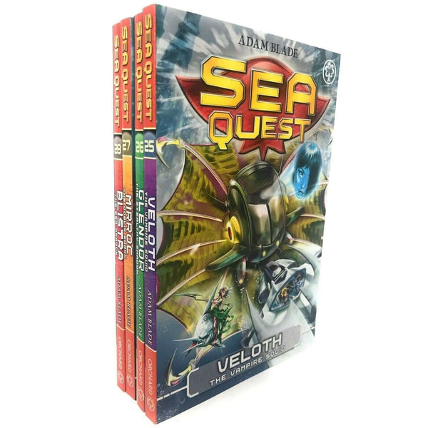 Sea Quest Collection Adam Blade 4 Books Set Series 7 Pack Inc Veloth, Mirroc
