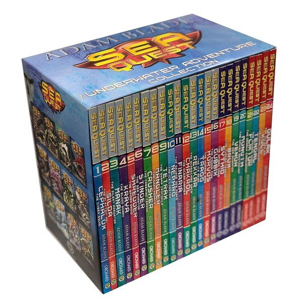 Sea Quest Series 1-6 24 Books Slipcase Edition Collection Set By Adam Blade