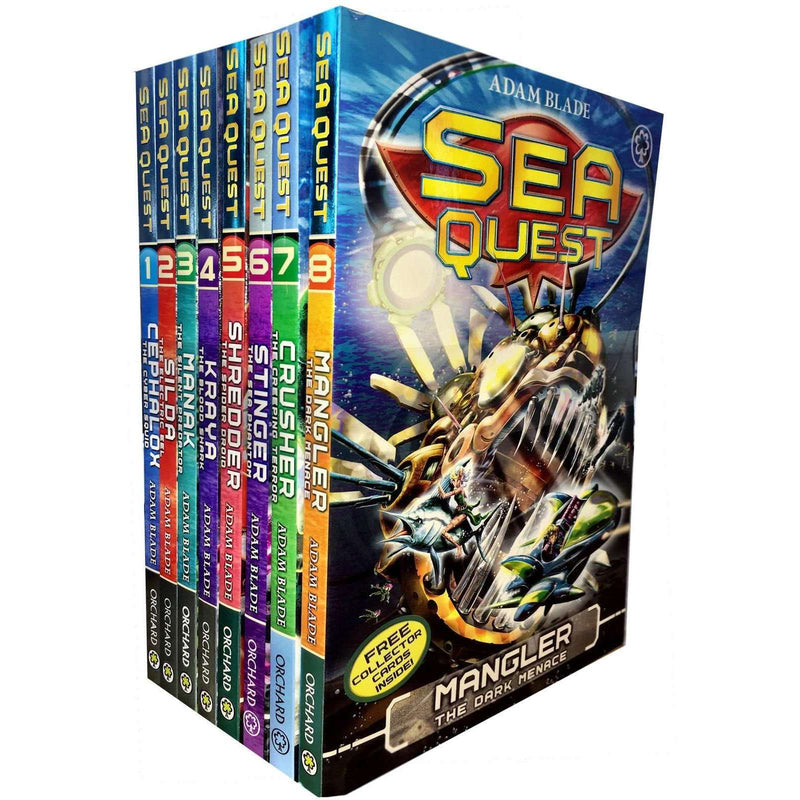 Sea Quest Series 1 and 2 Adam Blade 8 Books Set Collection - Mangler, Crusher,Silda