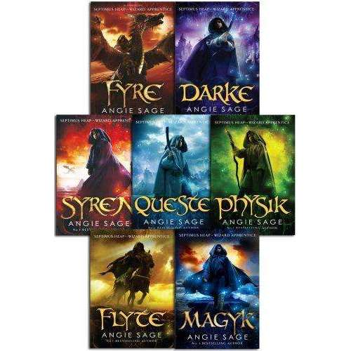 Septimus Heap Collection Angie Sage 7 Books Set By Angie Sage