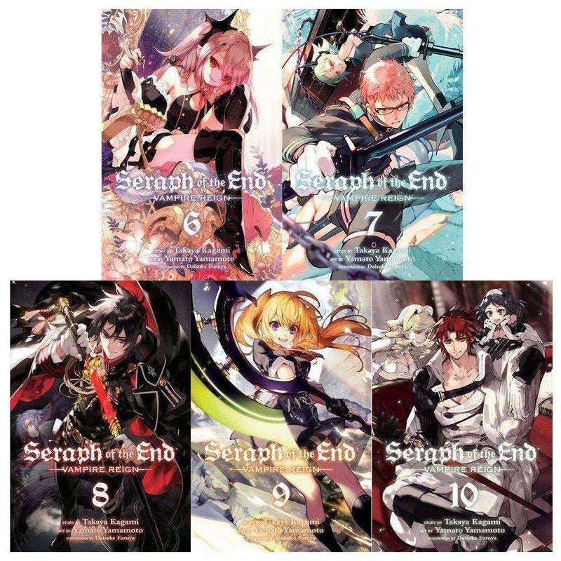Seraph Of The End Vampire Reign Series 2: 5 Books Vol 6 to 10 Collection Set
