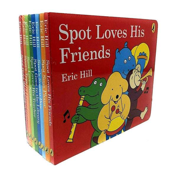 Spot's Story Collection 8 Book Set By Eric Hill Inc Spot Goes Shopping, Spots To