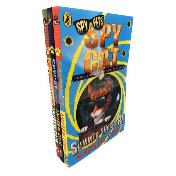 Spy Cat 3 Book Set Collection Andrew Cope, Blackout, Safari, Summer Shocker