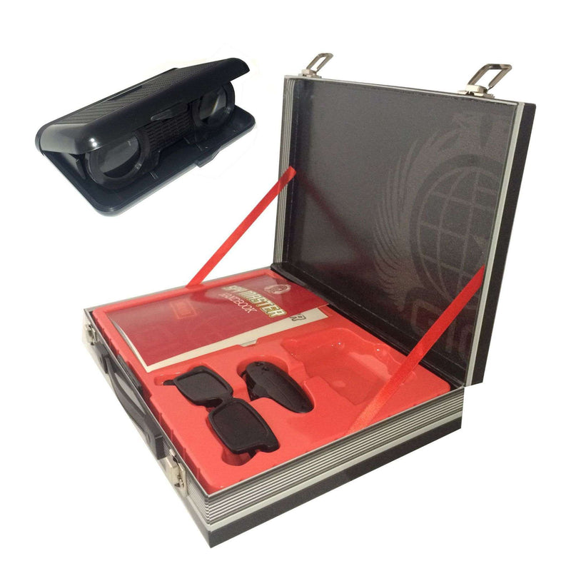 Spy Master Briefcase Black Spy kit - Secret agent mission handbook with top spy gear and gadget surveilance