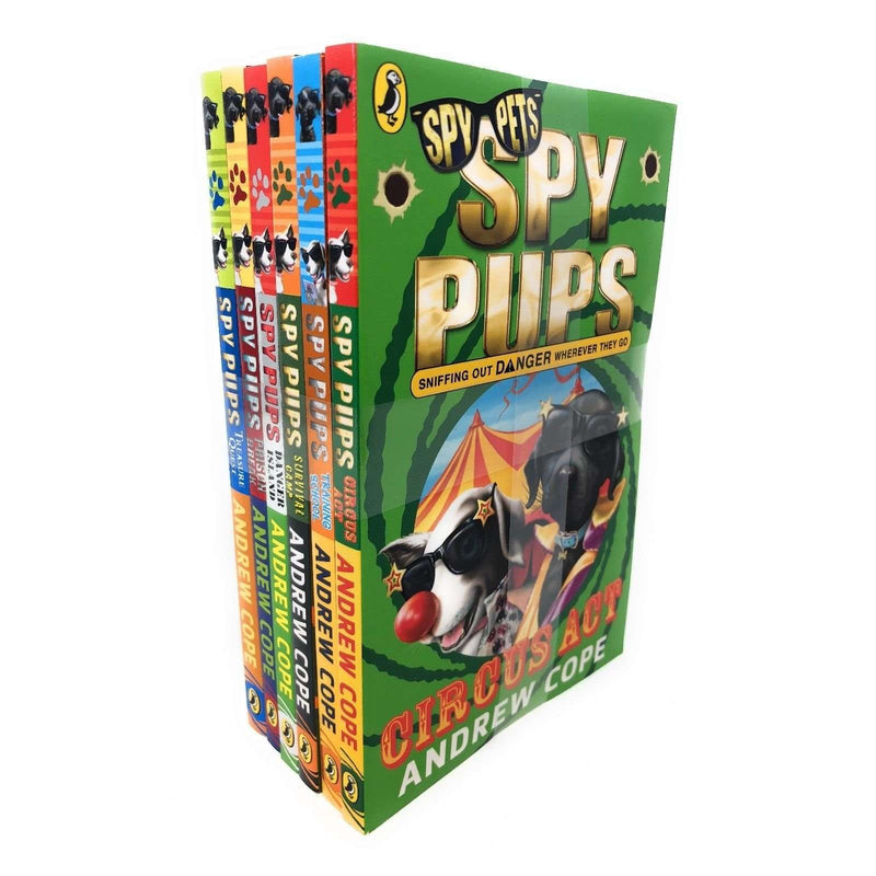 Spy Pups 6 Books Set Collection Andrew Cope, Circus Act, Training School