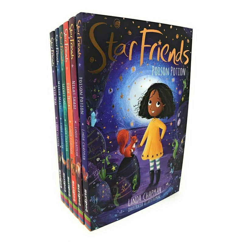 Star Friends 6 Books Set Collection By Linda Chapman Night Shade, Wish Trap