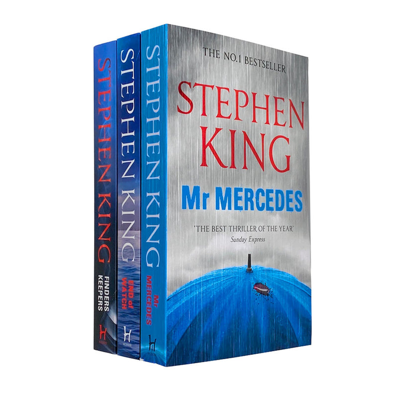 The Bill Hodges Trilogy Stephen King 3 Books Collection Set Mr Mercedes, Finders