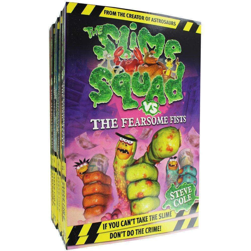 Steve Cole the Slime Squad Collection 8 Books Set Fearsome Fists Toxic Teeth
