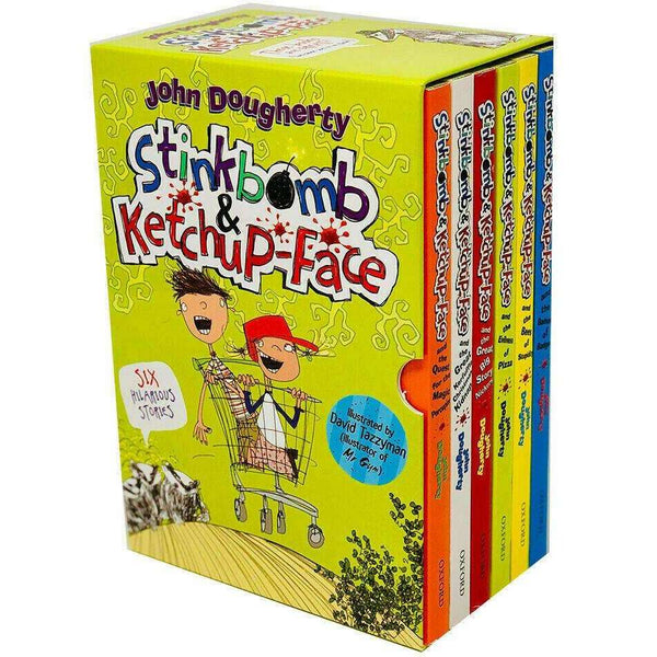 Stinkbomb & Ketchup Face Series 6 Books Collection Box Set By John Dougherty
