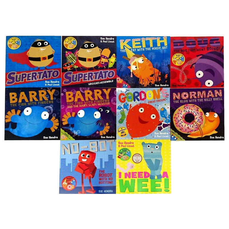 Supertato and Other Stories 10 Books Set Collection by Sue Hendra and Paul Linnet