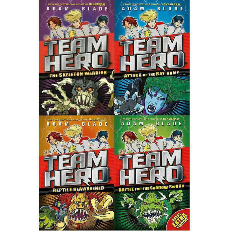 Team Hero 4 Books Collection Set (Series 1) By Adam Blade Childrens Books
