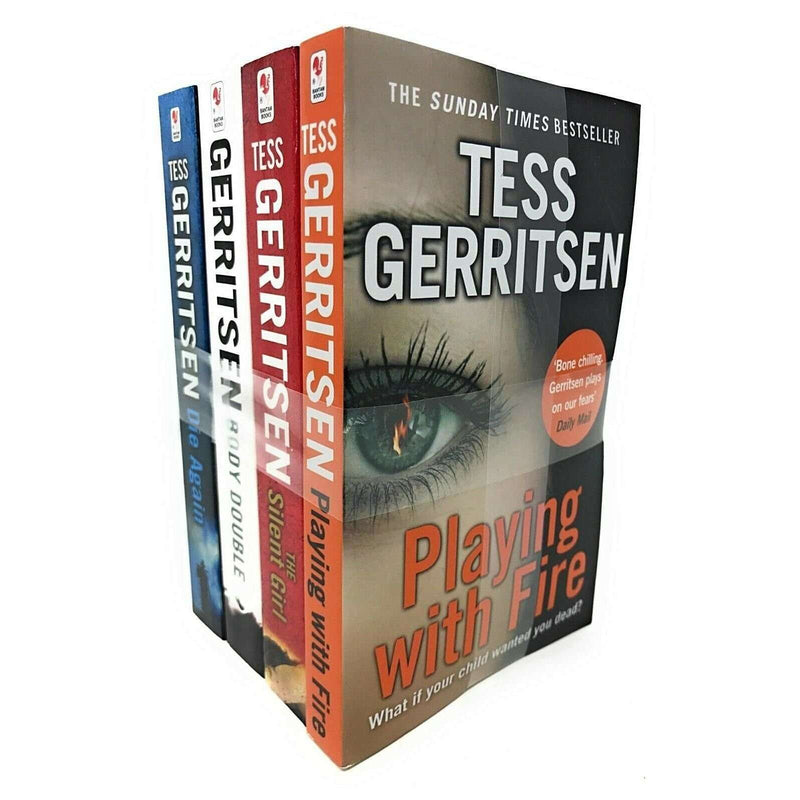 Tess Gerritsen 4 Book Set Collection Inc Playing with Fire, Die Again, Body Doub