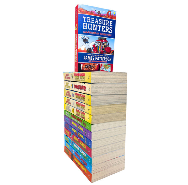 Treasure Hunters & Middle School Series 13 Books Pack Set By James Patterson