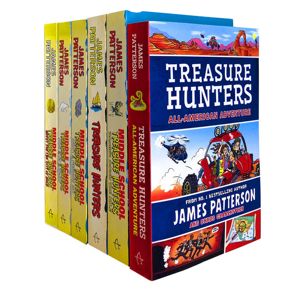 Treasure Hunters Middle School Series 1-6 Books Collection Set James Patterson