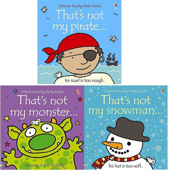 That's Not My 3 Books Collection Set (Pirate,Monster,Snowman) By Fiona Watt