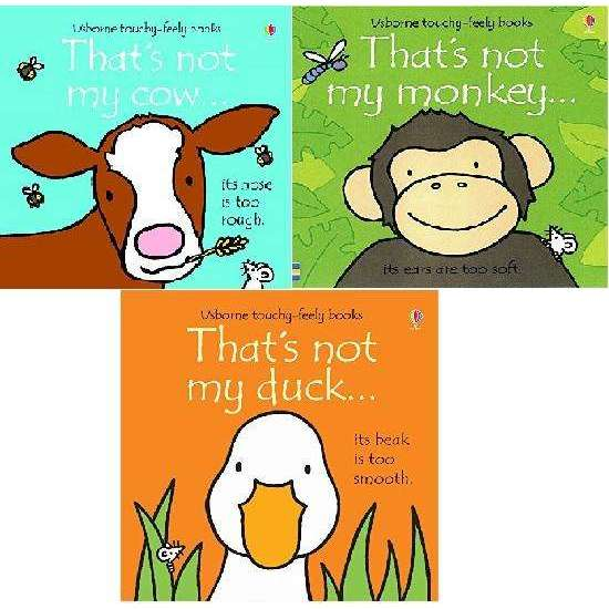 That's Not My Animals 3 Books Collection Set (Cow, Duck, Monkey) By Fiona Watt