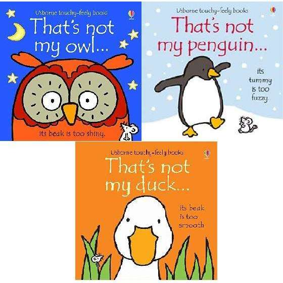 That's Not My Animals 3 Books Collection Set (Owl, Penguin, Duck) By Fiona Watt