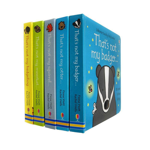Thats Not My Animals 5 Books Collection Set (Badger,Otter,Sq..) By Fiona Watt