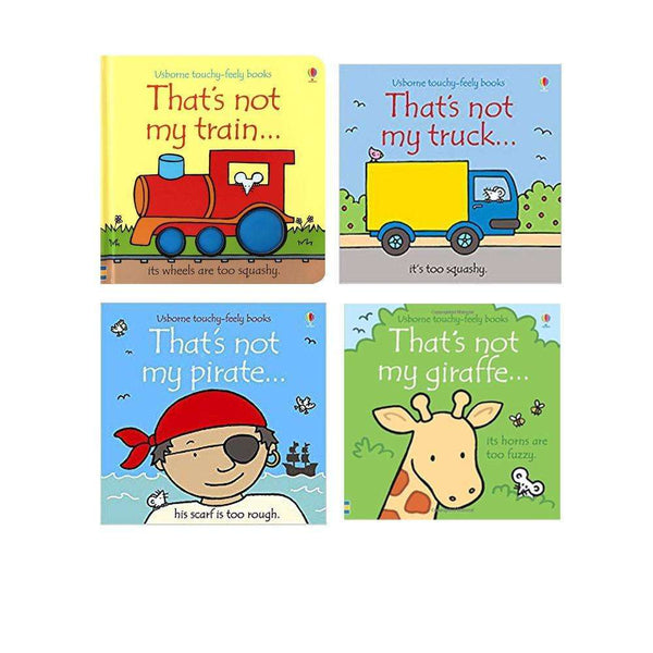 Thats Not My Boys Collection Usborne Touchy-Feely 4 Books Set, Giraffe, Train