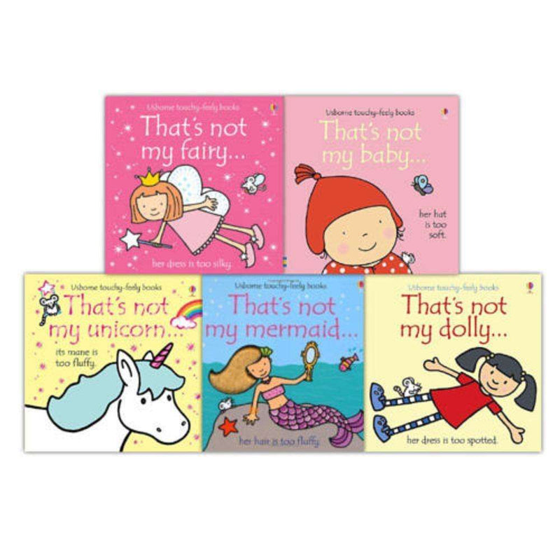 Thats Not My Girls Collection Touchy-Feely 5 Books Set Mermaid,Dolly,Baby,Unico