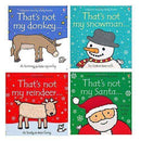 Thats Not My Touchy-Feely 4 Board Books Set Christmas Collection Santa,Snowman