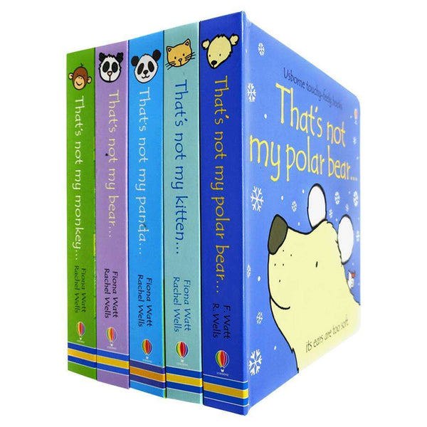 Thats Not My Touchy-Feely 5 Board Books Set Inc Polar Bear, Monkey, Kitten, Bear